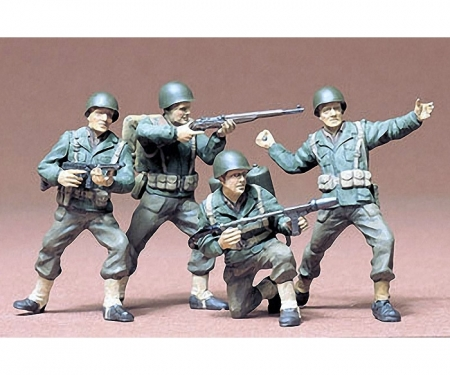 tamiya 1:35 Figure-Set US Army Infant. (4)
