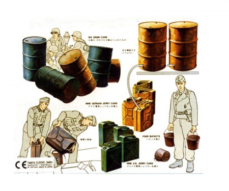 tamiya 1:35 WWII Dior.-Set US/Dt.Jerry Can Set