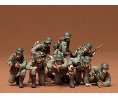 tamiya 1:35 WWII Fig.-Set Ger.Tank Grenadie.(8)