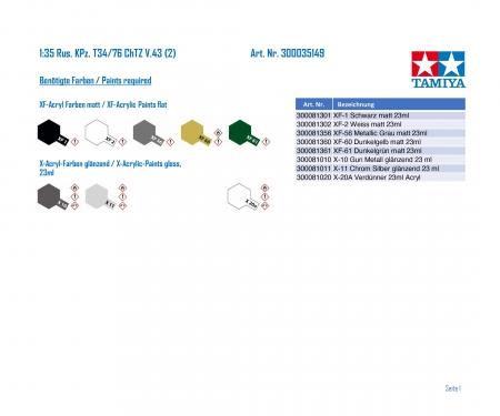 tamiya 1:35 Sov. MBT T34/76 ChTZ V.43 (2)