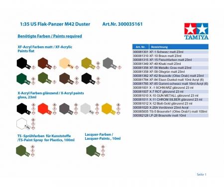 tamiya 1/35 M42 Duster w/3 Figures
