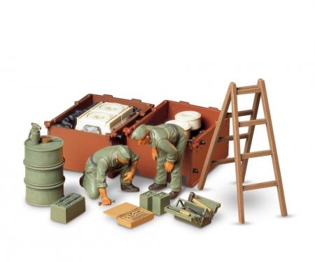 tamiya 1:35 Diorama-Set Ger.Engine Maint.Cr.(2)