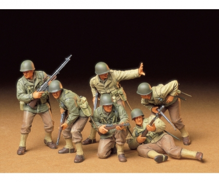1:35 WWII Fig.-Set US Infant. Angriff(6)