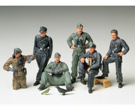 tamiya 1:35 Fig-Set Ger. Tank Crew Rest(6)