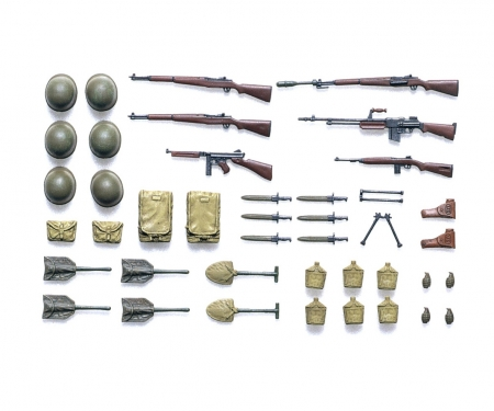 tamiya 1:35 Diorama-Set WWII US Infant. Weapons