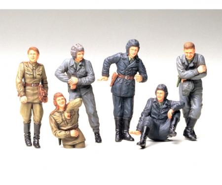 tamiya 1:35 WWII Fig-Set Sov.Tank Crew Rest(6)