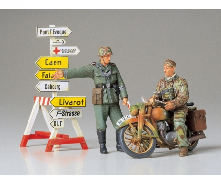 tamiya 1:35 Diorama-Set Motorrad m.Wegwei.(2)