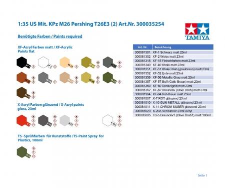 tamiya 1:35 US Med. MBT M26 Pershing T26E3 (2)