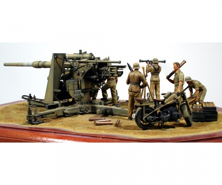 tamiya 1:35 Ger. 88mm Flak36 North Africa (8)