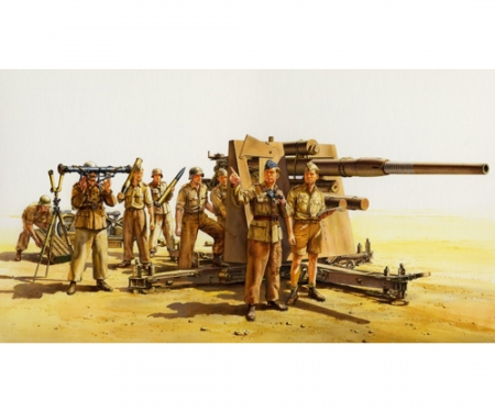 tamiya 1:35 Ger. 88mm Flak36 North Africa (8)