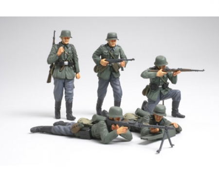 tamiya 1:35 WWII Fig-Set Dt. Infant. Frankr.(5)