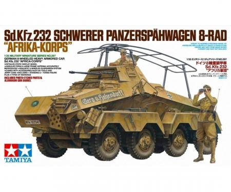 tamiya 1:35 Ger. SdKfz.232 Scout Car Afr. (2)