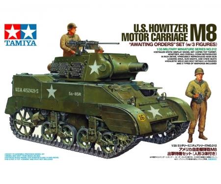 tamiya 1:35 US M8 Howitzer Mo.Ca. w/Fig.(3)