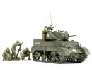 tamiya 1:35 WWII US M5A1 Light Tank w/Mrtar (4)