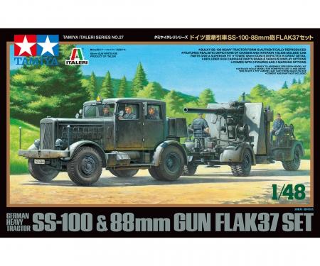 tamiya 1/48 SS-100 & 88mm Flak37