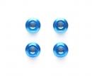 tamiya TRF 4mm/M4 Al.Serrated Nut Blue anod.(4)