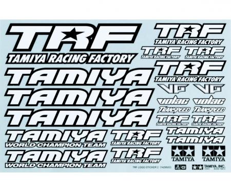 tamiya 1:10 Sticker-Set TRF black/white
