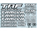 tamiya 1:10 Sticker-Set TRF black/white