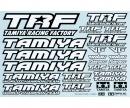 tamiya 1:10 Sticker-Set TRF schwarz/weiss
