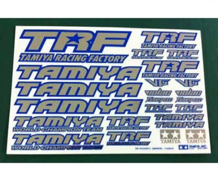 TRF Aufkleberbogen C Blau (spiegelnd)