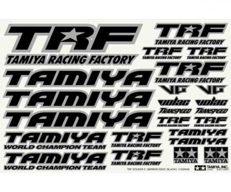 TRF Sticker C Mirror Border/blk