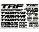 TRF Sticker C schwarz/chrom