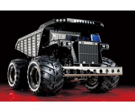 tamiya 1:24 RC Metal Dump Truck chrome (GF-01)