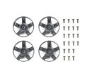 tamiya WR-02CB S Parts Spokes Deep Grey