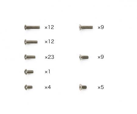 tamiya TC-01 Titanium Screw Set (75)