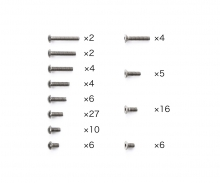 tamiya TA08 PRO Titanium Screw Set