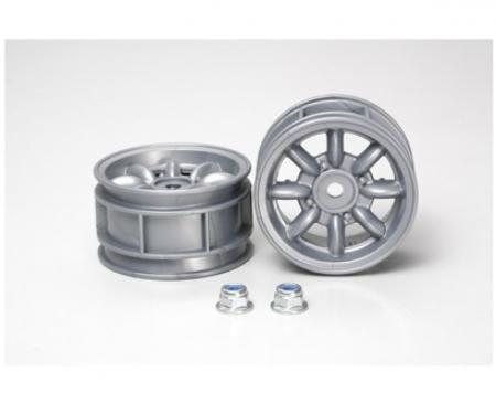 tamiya M-Chassis 8-Spoke Wheels (2) silver
