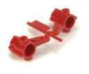 tamiya TA-01/DF-01 Front Upright Red (2)