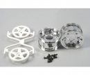 tamiya 1:10 Wheels (2) 5-Spoke Chr./white 30mm