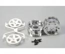 tamiya 2pc.Wheels 5-Spoke Chrome/white (2) 30mm