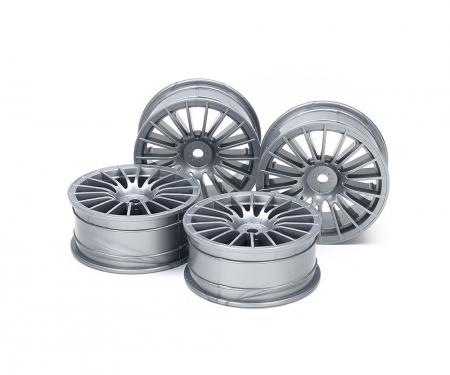 tamiya 1:10 Wheel 18-Spoke grey 24 mm (4)