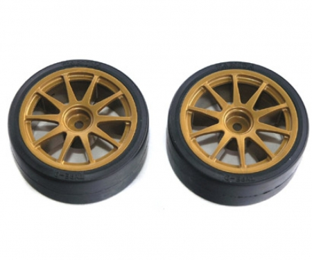 tamiya 1:10 Drift Whe./Tir.(2) Type D gold 26mm