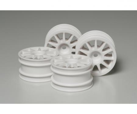 tamiya M-Chassis 11-Spoke Wheels white (4)