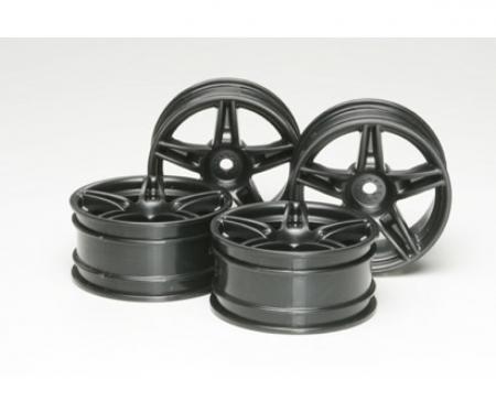 tamiya 1:10 Twin 5-Sp. Wheels black(4) 26mm/+4