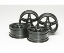 tamiya 1:10 Twin 5-Sp. Wheels black(4) 26mm/+4