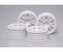 tamiya 1:10 Wheels (4) 2-Spoke 24mm +2mm