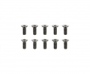 tamiya 3x8mm Steel CS HexHead Screws (10)