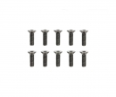 tamiya 3x10mm Steel CS HexHead Screws (10)