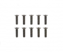 tamiya 3x12mm Steel CS HexHead Screws (10)
