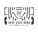 tamiya TC-01 A-Parts (Body Mounts) (2)