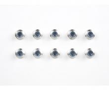 tamiya 4mm Alum. Flanged Lock Nut silver (10)