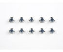tamiya 4mm Alum. Flanged Lock Nut silver (10)