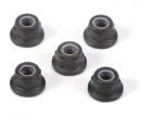 4mm Alum. Flanged Lock Nut Bla.Anod.(5)