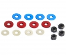 tamiya 4mm Hard Lock-Nut & Spancer Set