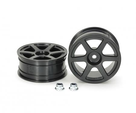 tamiya 1:10 Felgen (2) 6-Speichen schwarz 24mm