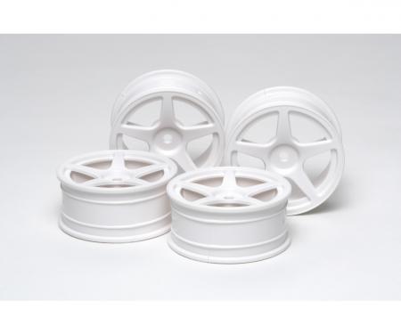 FELGEN (4) 5-Speichen weiß 24mm